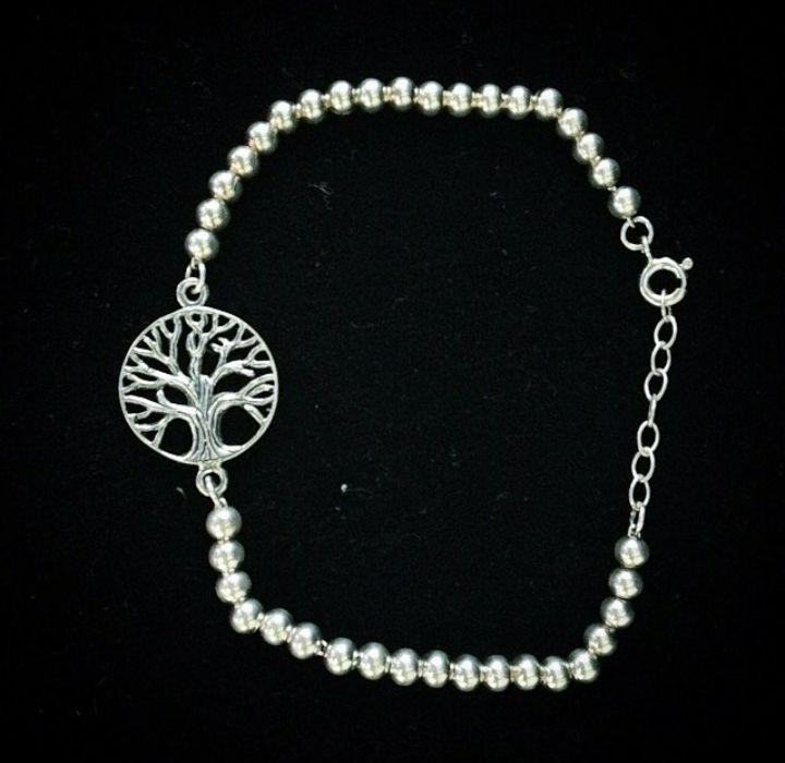 Pulseira Árvore da Vida  em Prata Bali925