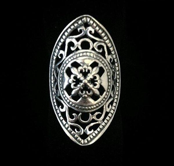 Anel em Prata Bali 925 mosaico