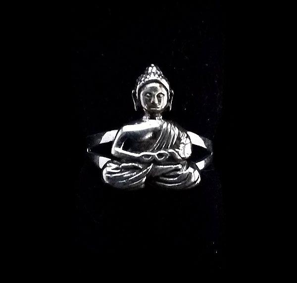 Anel Prata Bali 925 Buda