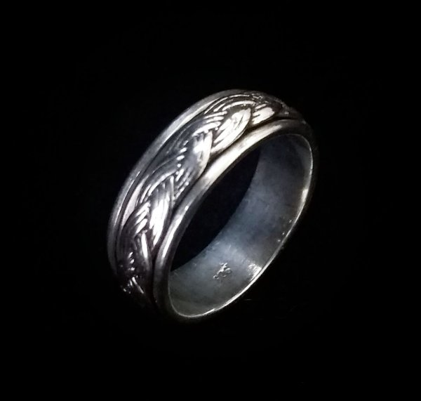 Anel Prata Bali 925 Giratório