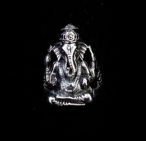 Anel Prata Bali 925 Lord Ganesha
