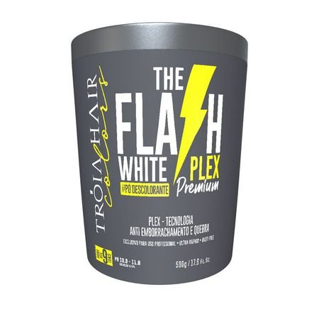 Pó Descolorante The Flash White Plex Premium 500g - Troia Hair