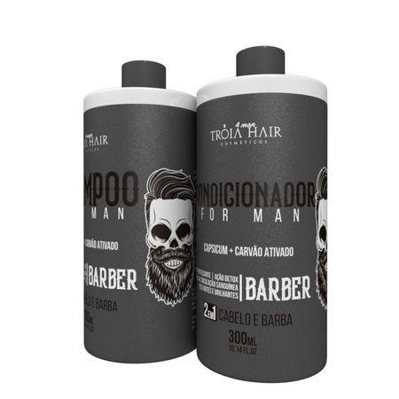 Kit Shampoo & Condicionador Cabelo e Barda for Man 300ml - Troia for Man
