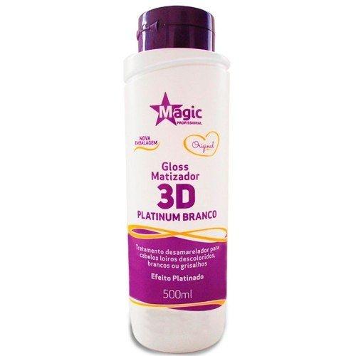 Magic color Gloss Matizador 3D Platinum Branco (Efeito platinado) 500 ml
