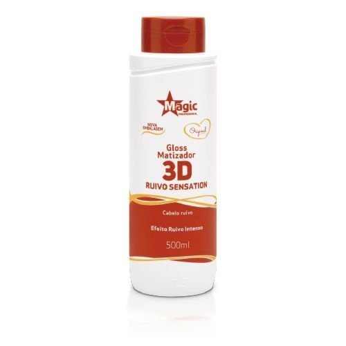 GLOSS MATIZADOR 3D RUIVO SENSATION 500ML MAGIC COLOR