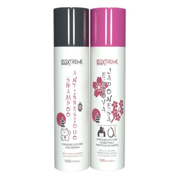 Kit Escova Japonesa 2x1L - Lissxtreme