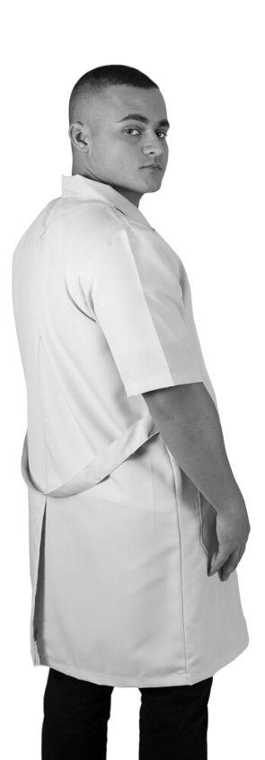 JALECO BRANCO de Tecido OXFORD Masculino de manga curta - Lojão da Saúde