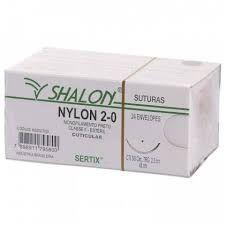 Fio De Sutura Nylon 2-0 Com Agulha 2,0cm - Shalon
