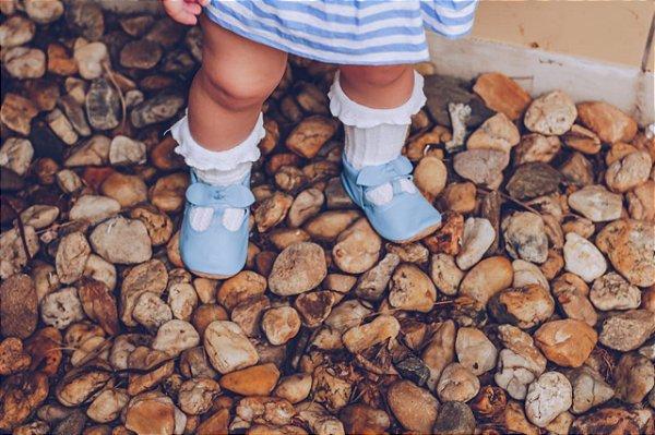 Sapatilha Aurora Azul Bebê
