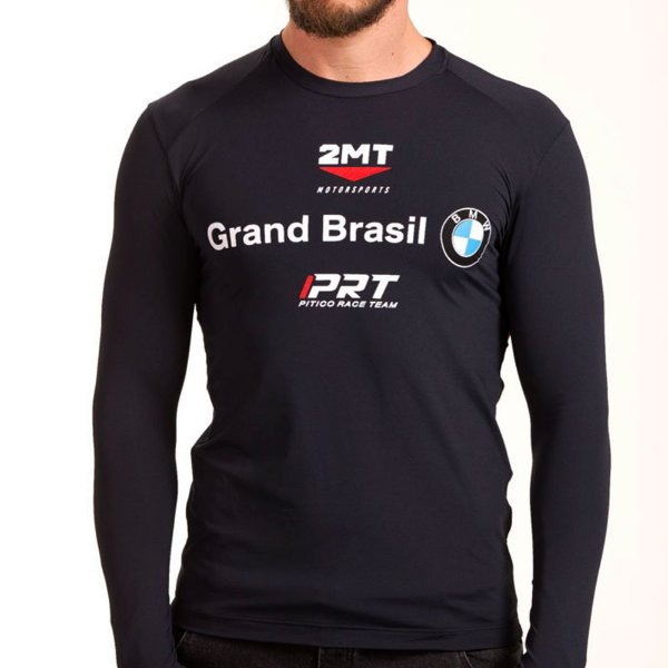 Camiseta Segunda Pele 2mt - Oficial da Equipe BMW - Preto