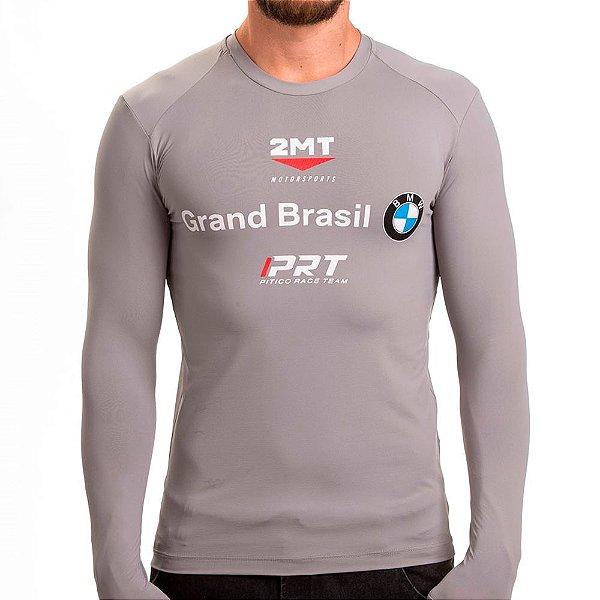 Camiseta Segunda Pele 2mt - Oficial da Equipe BMW - Cinza