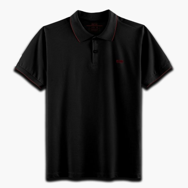 Camisa Polo Strasbourg Preto/Vermelho