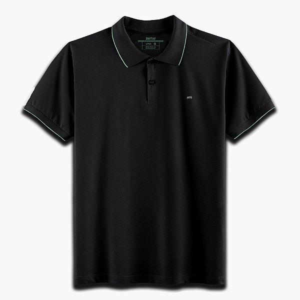 Camisa Polo Strasbourg Preto/Verde