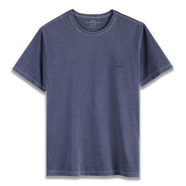 Camiseta Basic Stone - Azul Denim