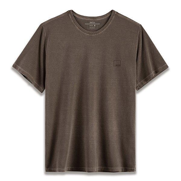 Camiseta Basic Stone - Café