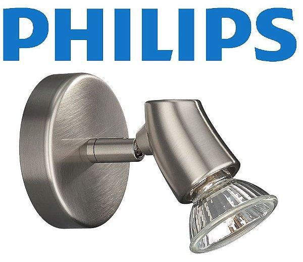 Spot Sobrepor Metal Escovado Philips Bivolt Direcionável