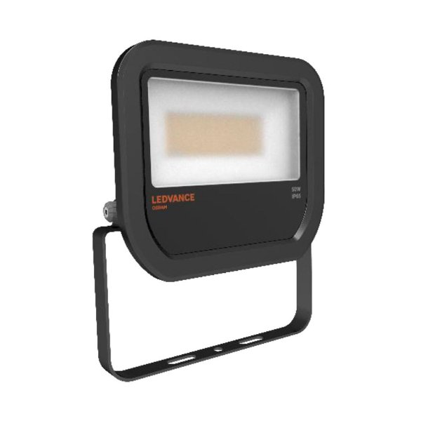 Refletor Led Floodlight 50W Bivolt IP65 3000K Preto