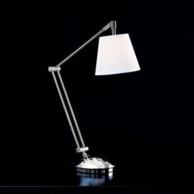 Luminária Lettura de Mesa Branco em Tecido 80 cm x 15 cm x 15 cm LI2248C - Bella