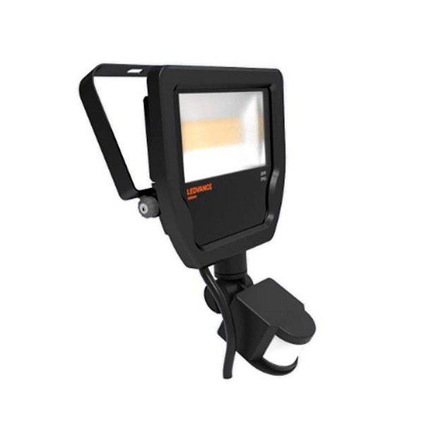 Refletor Led Floodlight 20W Bivolt IP65 3000K Preto Com Sensor OSRAM