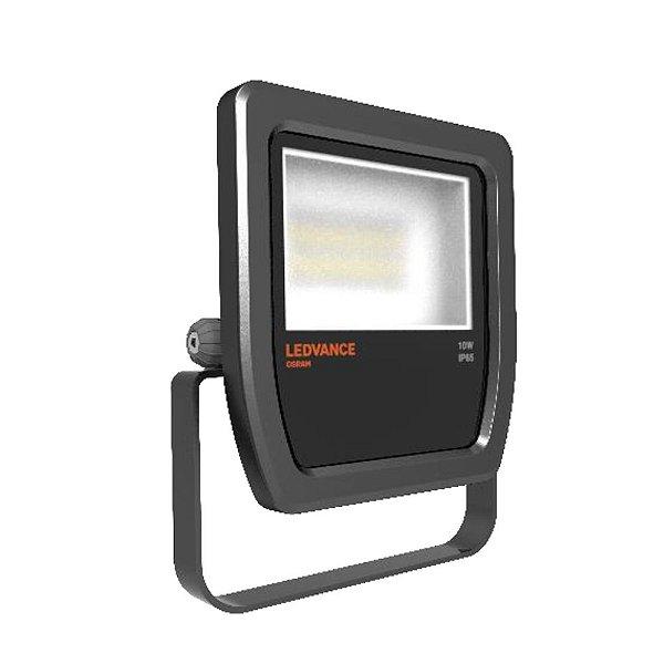 Refletor LED Floodlight 10W Bivolt IP65 3000K Preto OSRAM