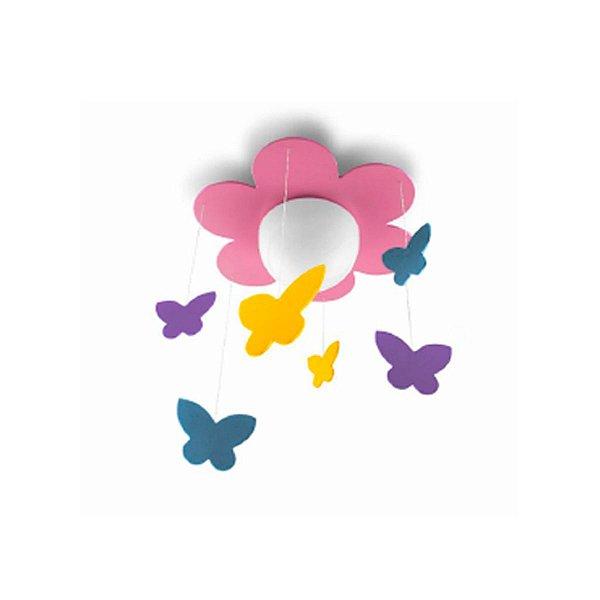 Pendente Meria PHILIPS Sob Madeira Bivolt E27 Rosa