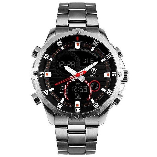 Relógio Masculino Tuguir Analógico Digital TG1146 Prata e Preto - 11493