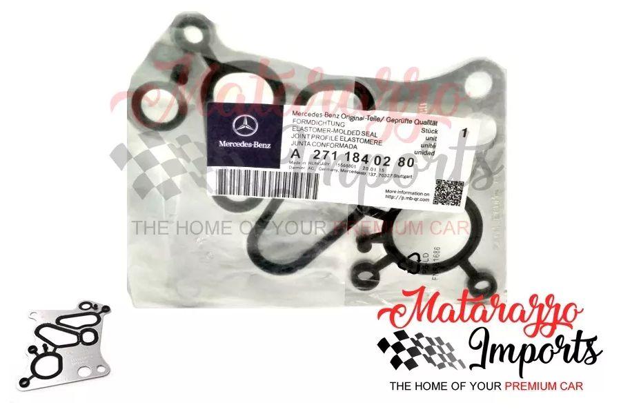 Junta do Resfriador de Óleo Mercedes-Benz C180 C200 C250 C300 SLK200 E200 1.8 16V - 2711840280