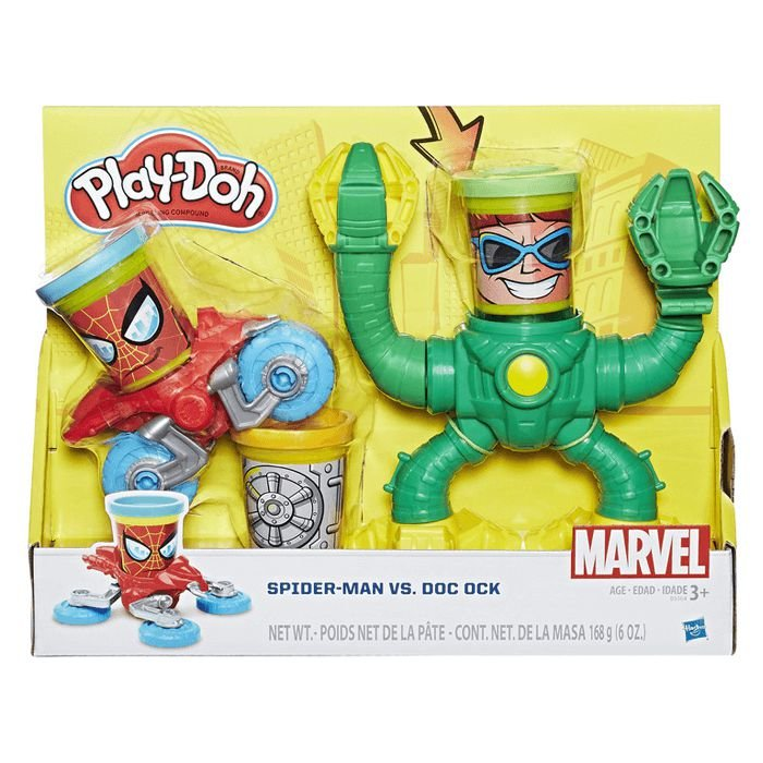 Conjunto PlayDoh Spiderman vs Dr Octopus Hasbro - B9364