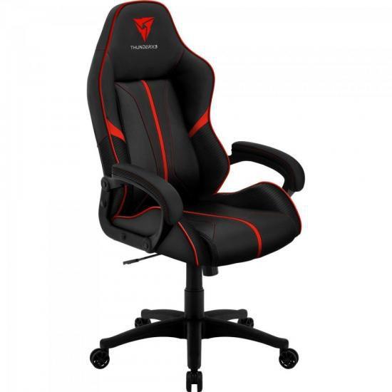 Cadeira Gamer Profissional AIR BC-1 EN61874 Preta/Vermelha - THUNDERX3