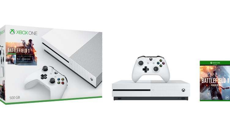Xbox One S 500GB Branco + Battlefield 1 (Para Download) + 14 dias de Live