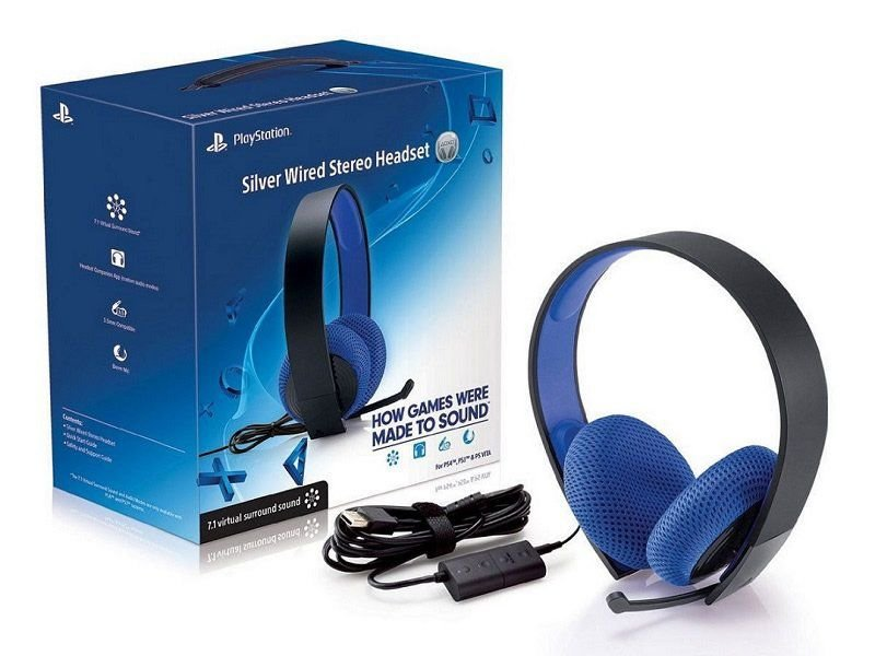 Headset Sony 7.1 com Fio Stereo Silver PS3 PS4 e PS Vita