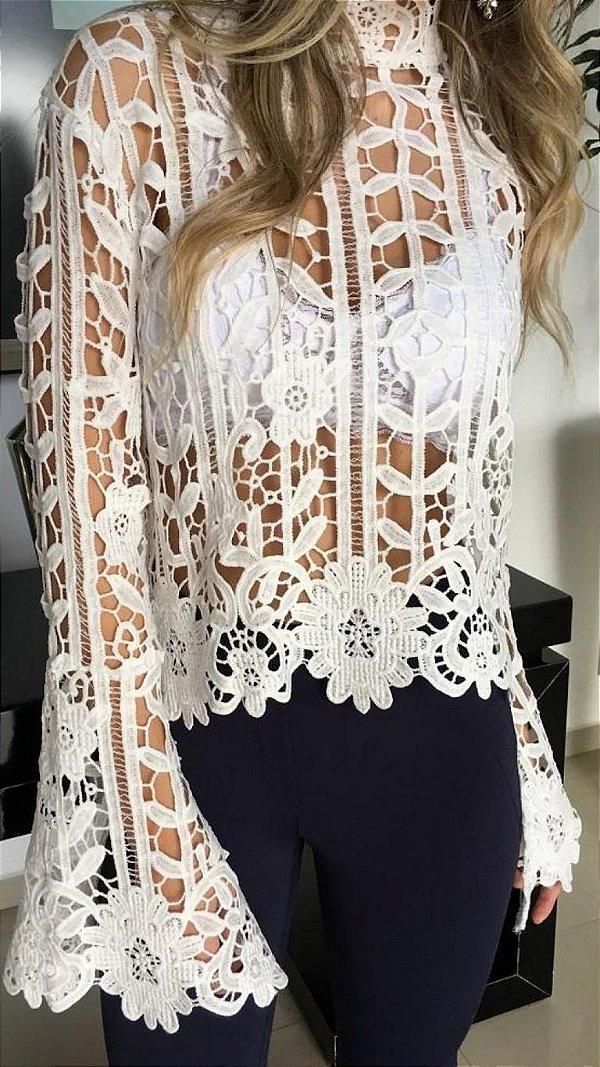 Blusa Guipir Branca