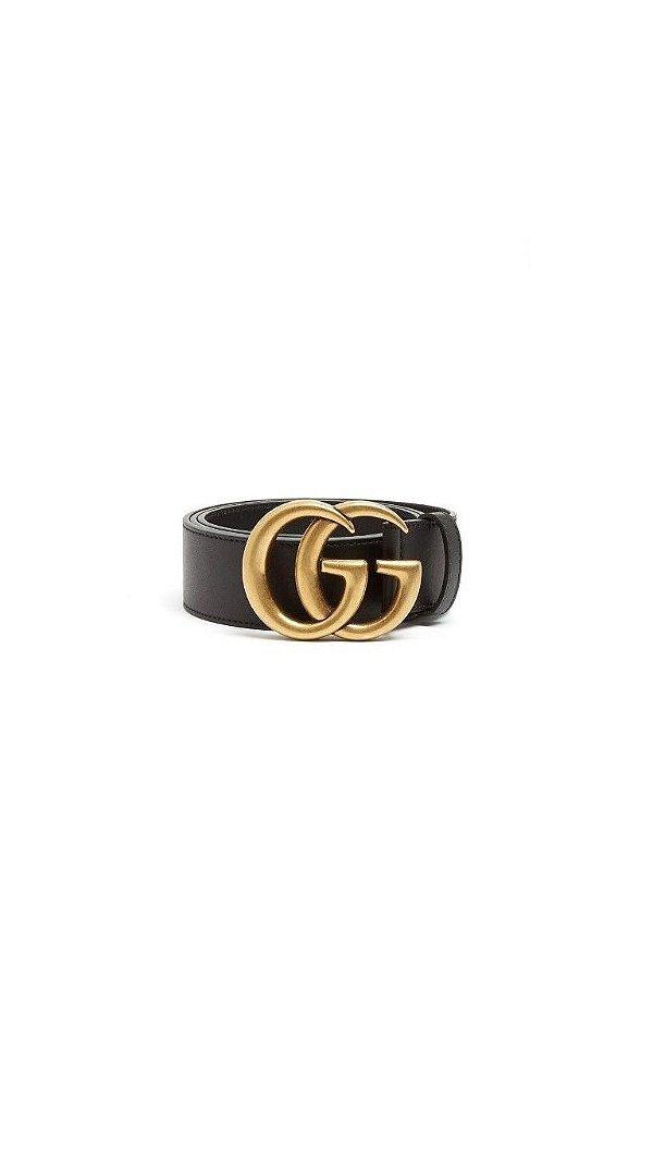 Cinto GG Inspired Dourado Fosco