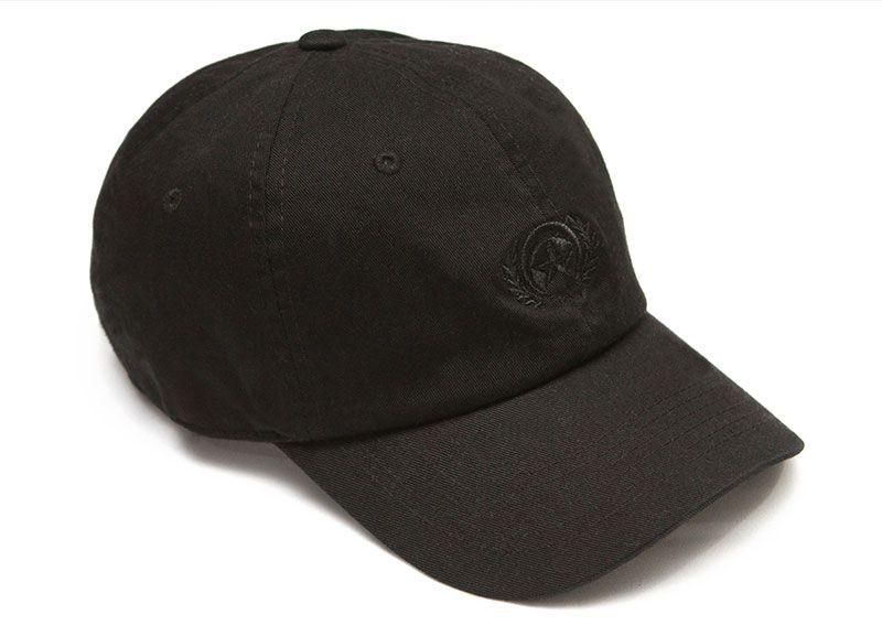 Cap dad hat black logo