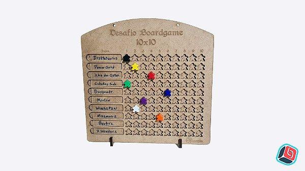 Quadro de Desafio Boardgame 10x10 em MDF
