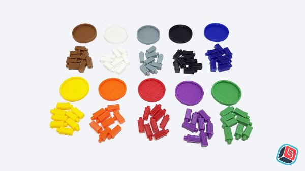 Kit 10 Bases para Miniatura Zombicide com Pinos
