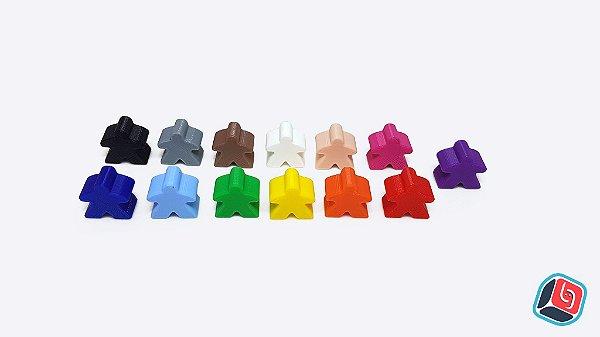 Meeples de plástico