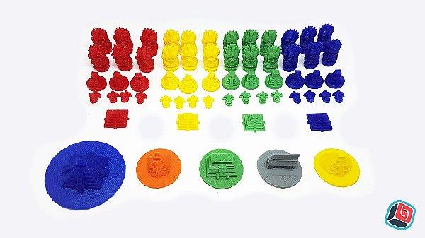 Kit de Miniaturas Tzolk'in + Templos