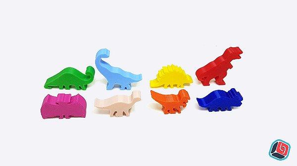 Kit de Meeples Ilha dos Dinossauros
