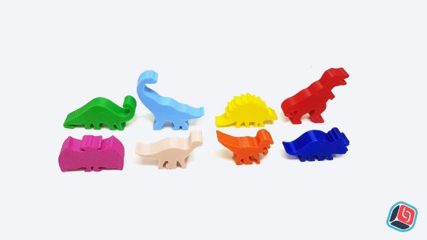 Kit de Dinomeeples Ilha dos Dinossauros