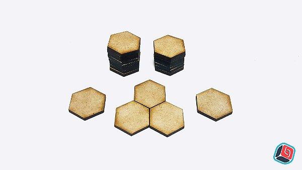 Tiles Genéricos Hexagonal em MDF - 20 unidades