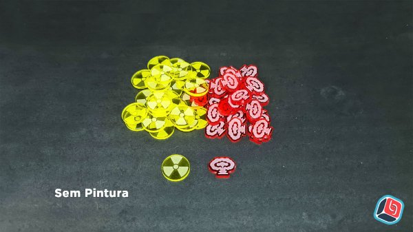 Kit de Tokens Manhattan Project Chain Reaction em Acrílico