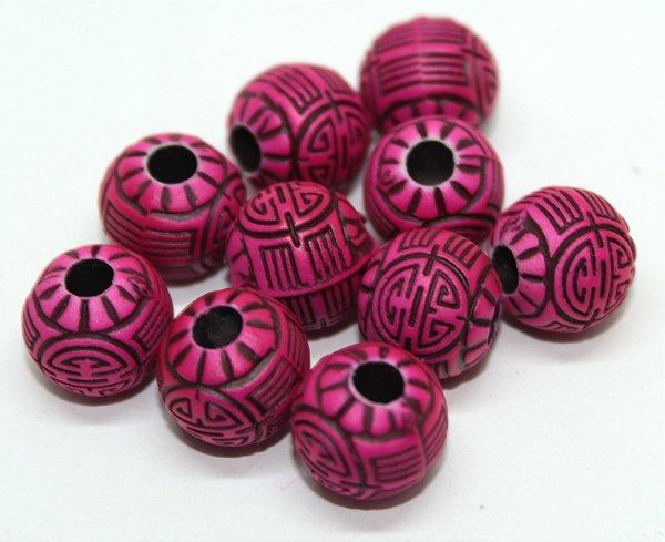 Miçanga Pesca Azteca - Rosa Neon