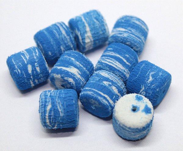 Eva Formato Ração - Azul com Branco 20 Unidades