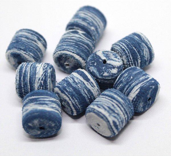 Eva Formato Ração - Azul Marinho com Branco 20 Unidades