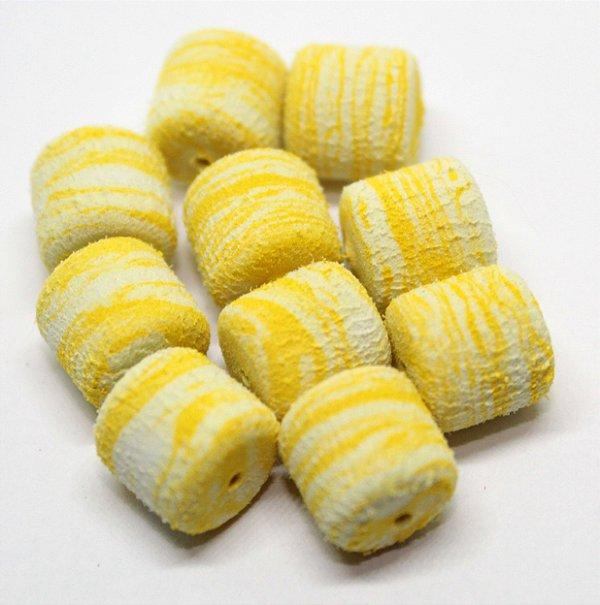 Eva Formato Ração - Amarelo c/ Branco 20 Unidades