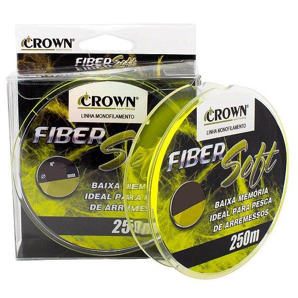 Linha Crown Monofilamento Fiber Soft Amarelo 250m