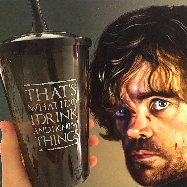 Copo com canudo Game of Thrones