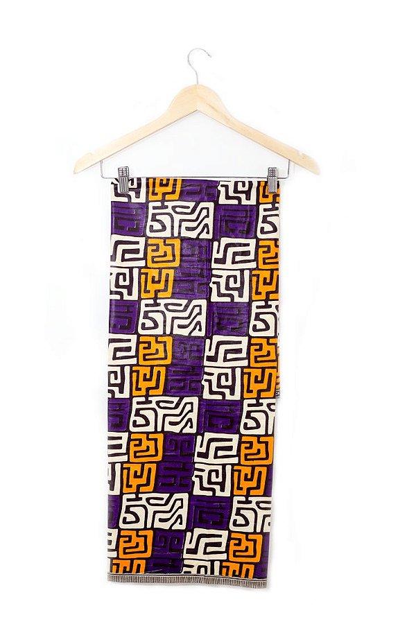Turbante em tecido africano - Catumbela Kuba colorido