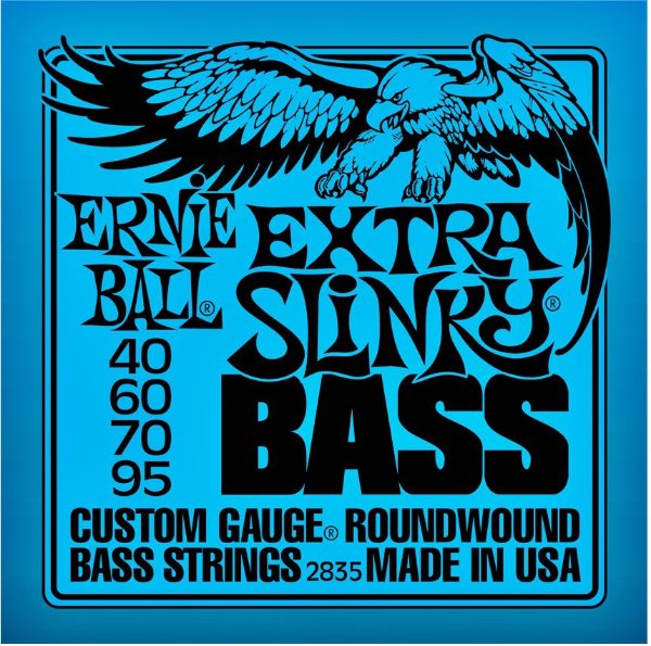Encordoamento Baixo Ernie Ball Extra Slinky 2835 4C 040